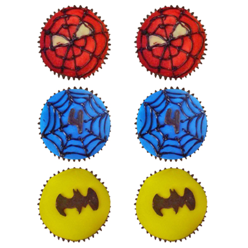 spiderman-batman-cup-cakes
