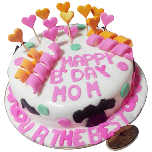 Happy Birthday Mom Cake Chandigarh Cakes Delivery Home Delivery