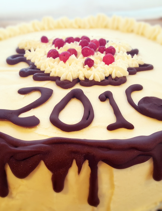 New years cake 2016 - nyårstårta