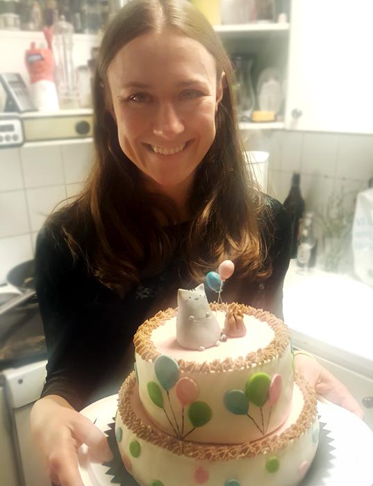Pusheen cake - Pusheen-tårta