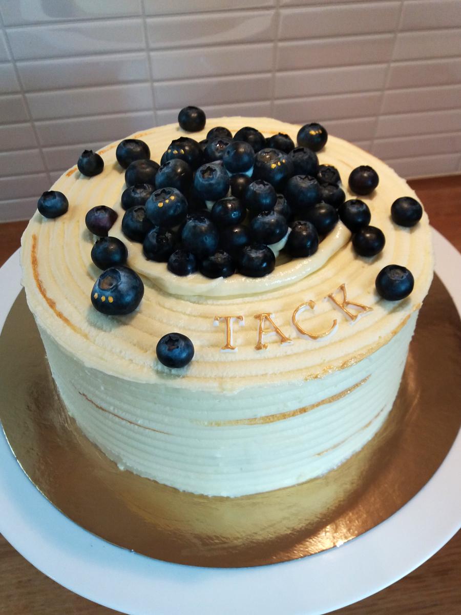 Blueberry cake - blåbärstårta