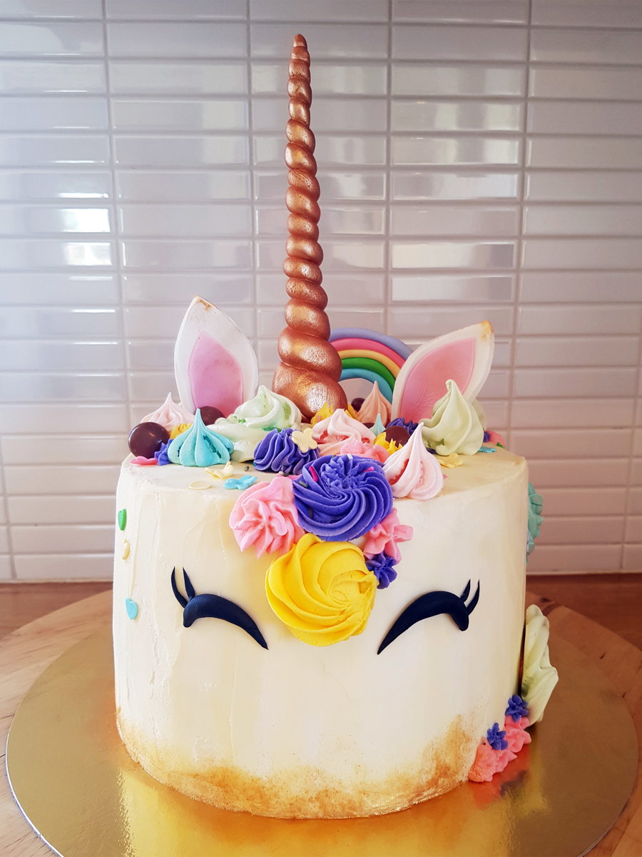 Unicorn cake - enhörningstårta