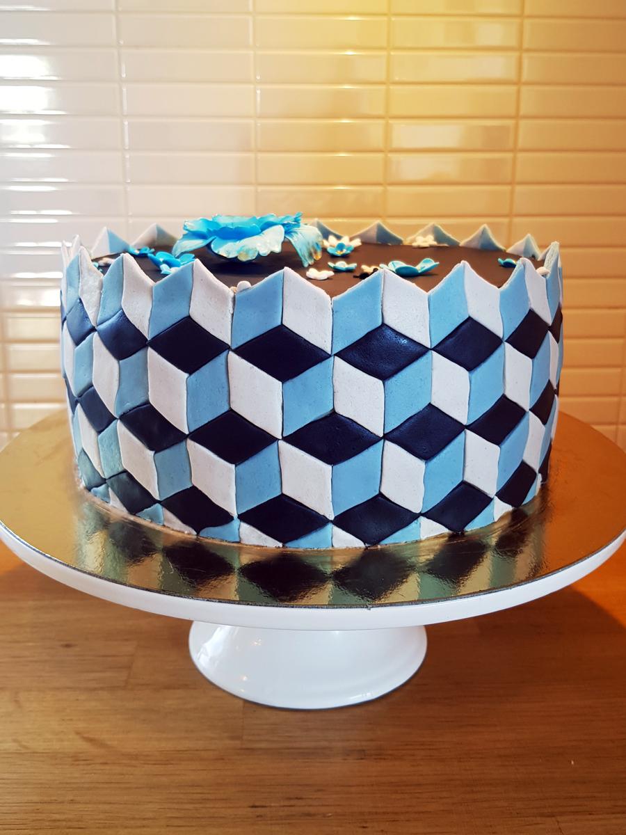 Geometrisk tårta - geometric cake