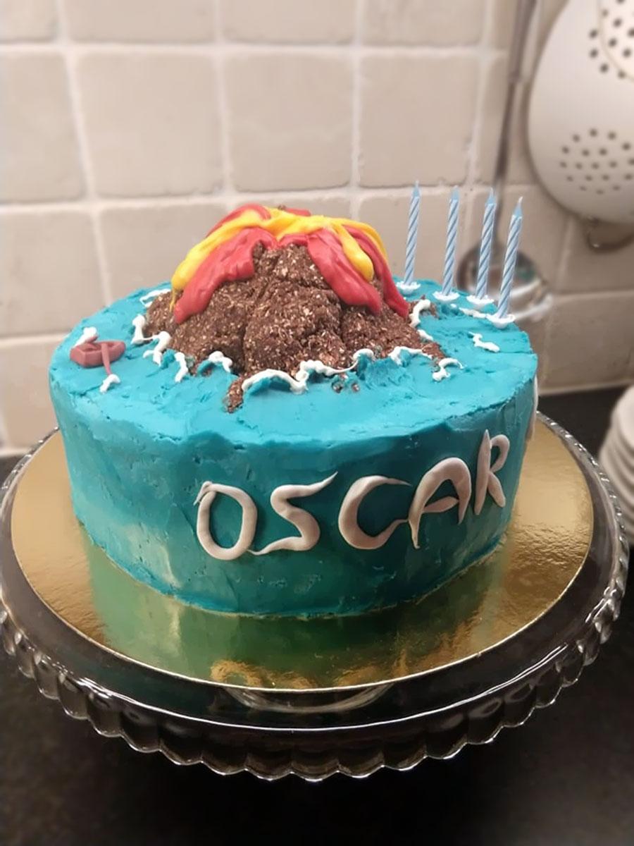Vulcano cake - vulkantårta