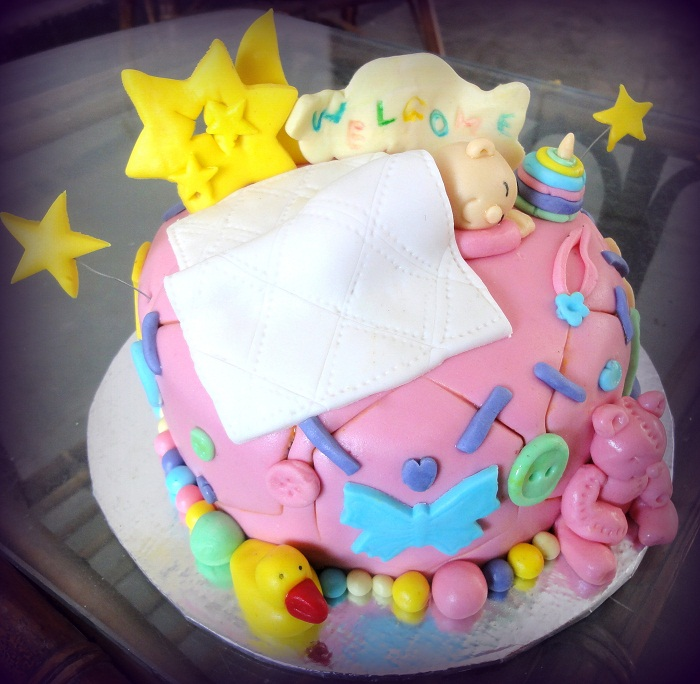 Baby Welcome Cake Images : Welcoming A New Baby Cake Cakes.pk