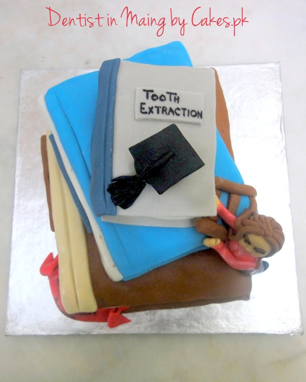 Dentist In Making Themed Cake Cakes