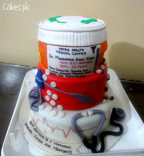 Images Of Cake For Doctor : Doctor Themed Cake Cakes.pk