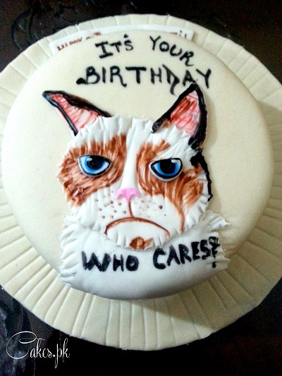 Grumpy Cat Cake Cakespk
