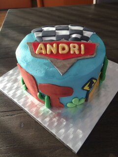 Cars themed cake to accompany the Lightning McQueen cake