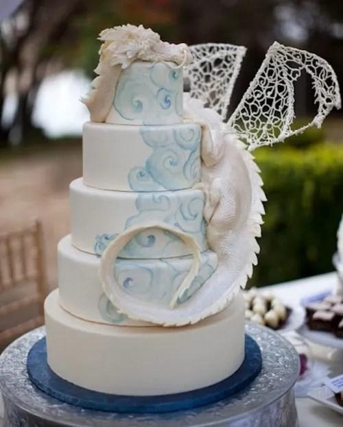 Multi Layer Snitch Harry Potter Wedding Cake
