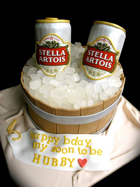 Stupendous Stella Can Beer Cake Cakes And Cupcakes Mumbai Funny Birthday Cards Online Overcheapnameinfo