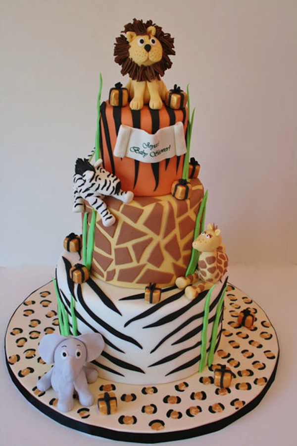 Astonishing Animal Jungle Safari Theme Kids Birthday Party Cakes And Cupcakes Personalised Birthday Cards Sponlily Jamesorg