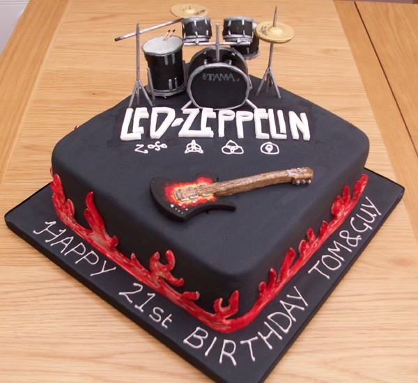Birthday Cake Led Zeppelin Music Theme Customised Cakes Cupcakes Mumbai