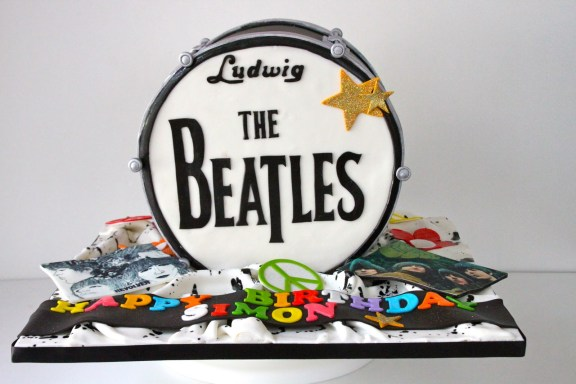 The Beatles Band Music Theme Customised Cakes Cupcakes