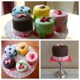 Mini cakjes, 2,50 euro per stuk