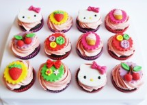 Hello kitty cupcakes, 1,50 euro/stuk
