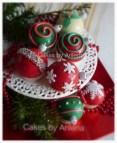 Kerst thema cupcake 2euro/stuk