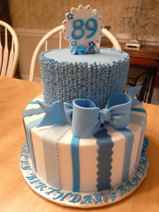 Blue Ruffles And Bows Cakes By Crystal
