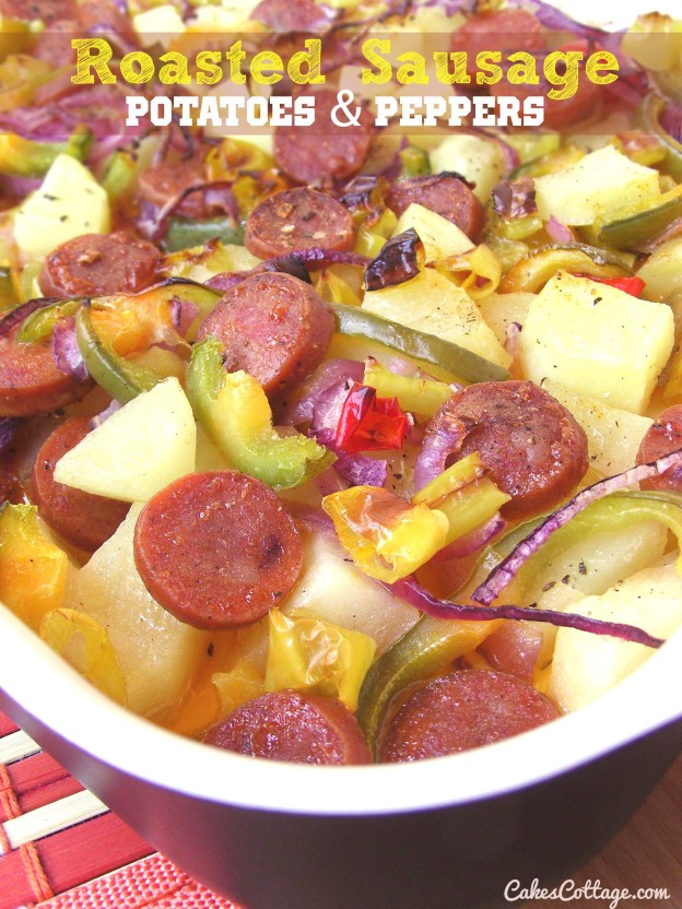 Oven Roasted Sausage Potatoes Peppers Onions