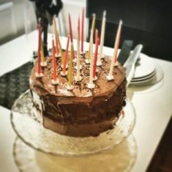 Gâteau Anniversaire aux 3 chocolats