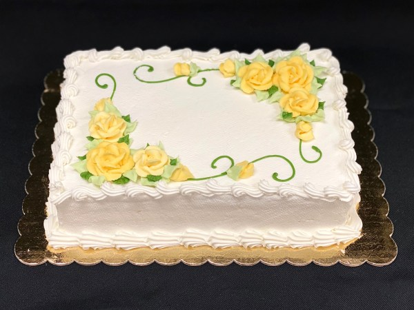 Frosted Cake with flowers