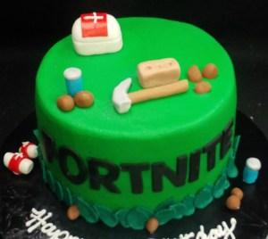 Fortnite themed cake