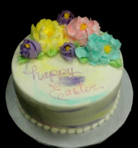 Easter Cake with buttercream flowers
