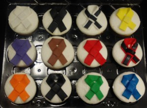 Martial arts themed cupcakes