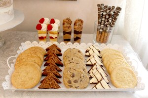 Tray of assorted cookies