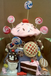 """pie cake"" ""lollipop cake"" ""candy cake"" ""ice cream cake"" ""cupcake cake"""