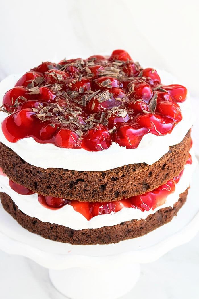 Easy Black Forest Cake With Cake Mix Cakewhiz