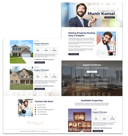 Free Realtor Website Template