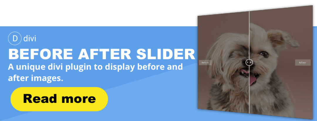 Before After Image Slider for Divi