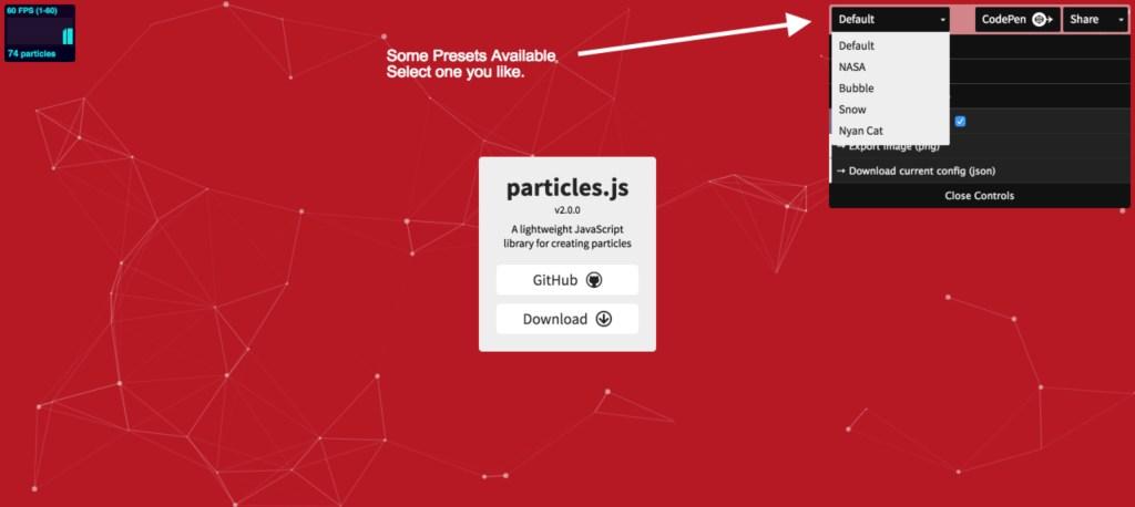 particlejs-presets
