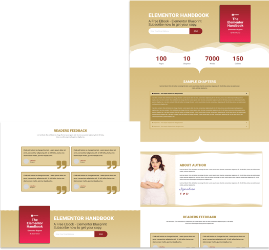 Free Landing Page Elementor Template for Ebook