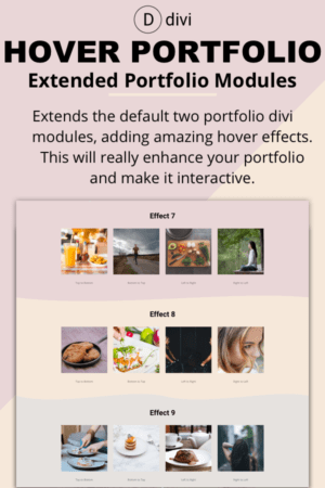 Hover Portfolio Modules - Divi Plugin