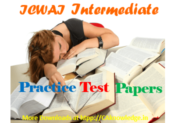ICWAI Intermediate Practice Test Papers June 2014