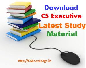 CS Executive Latest Study Material New Syllabus