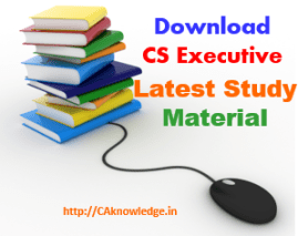 CS Executive Study Material new Syllabus