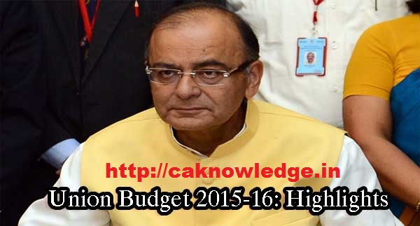 Highlights of Union Budget