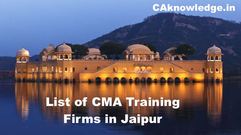 List of CMA Training Firms in Jaipur