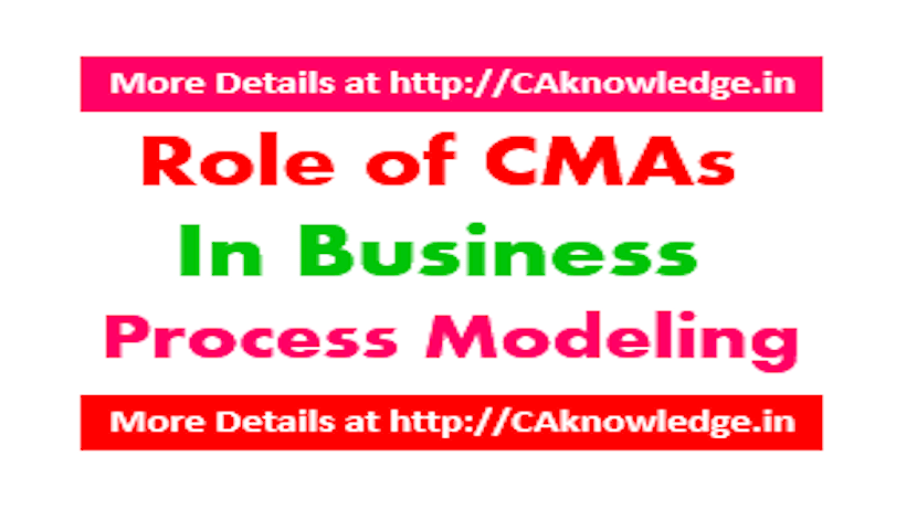 Role of CMAs in Business Process Modeling