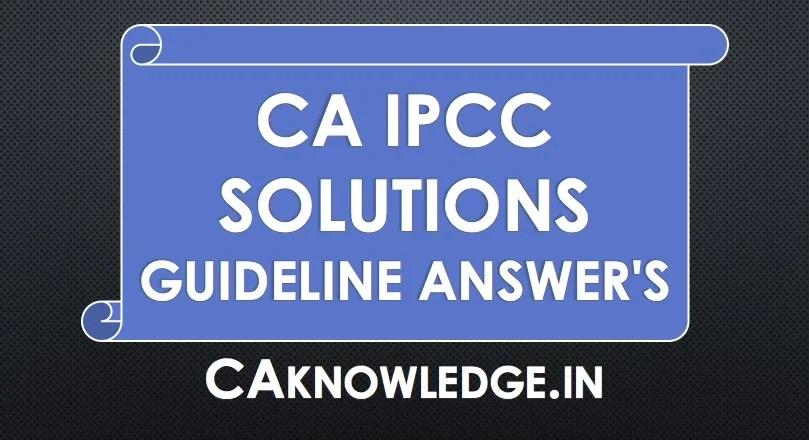 CA IPCC Solutions