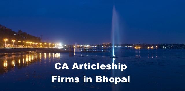 CA Articleship Firms Bhopal