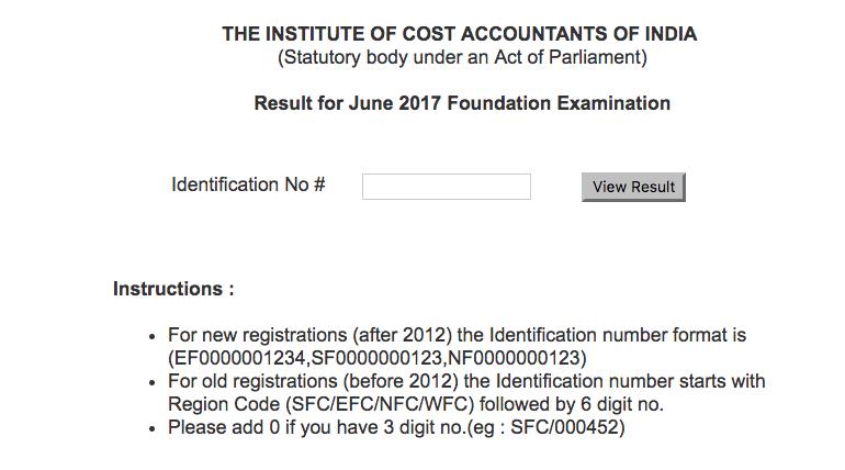 CMA Foundation Result