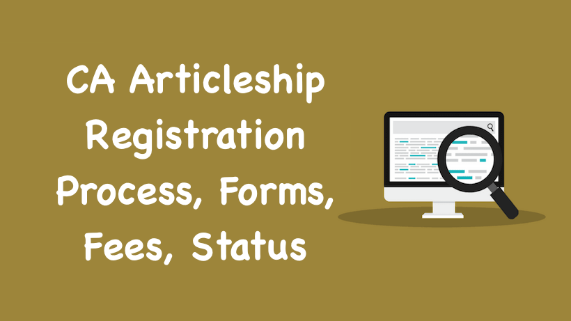 CA Articleship Registration
