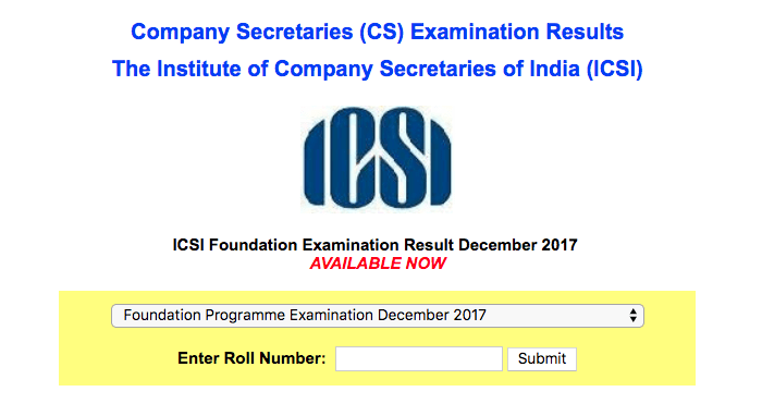 CS Foundation Result