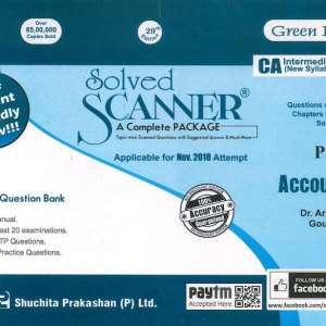 CA IPCC Accounting Solved Scanner by Gourab Ghose nov