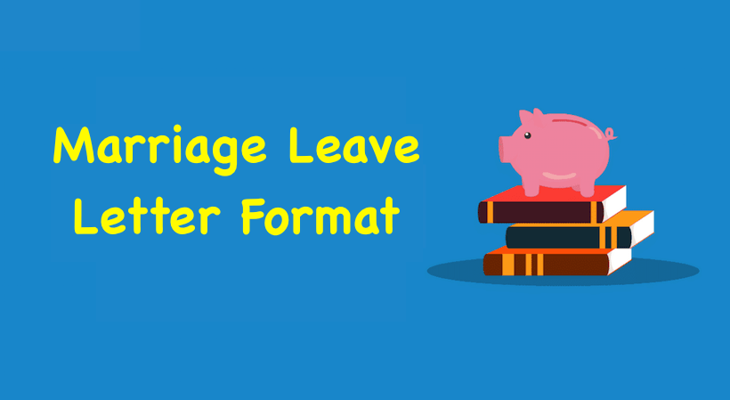 leave application for marriage