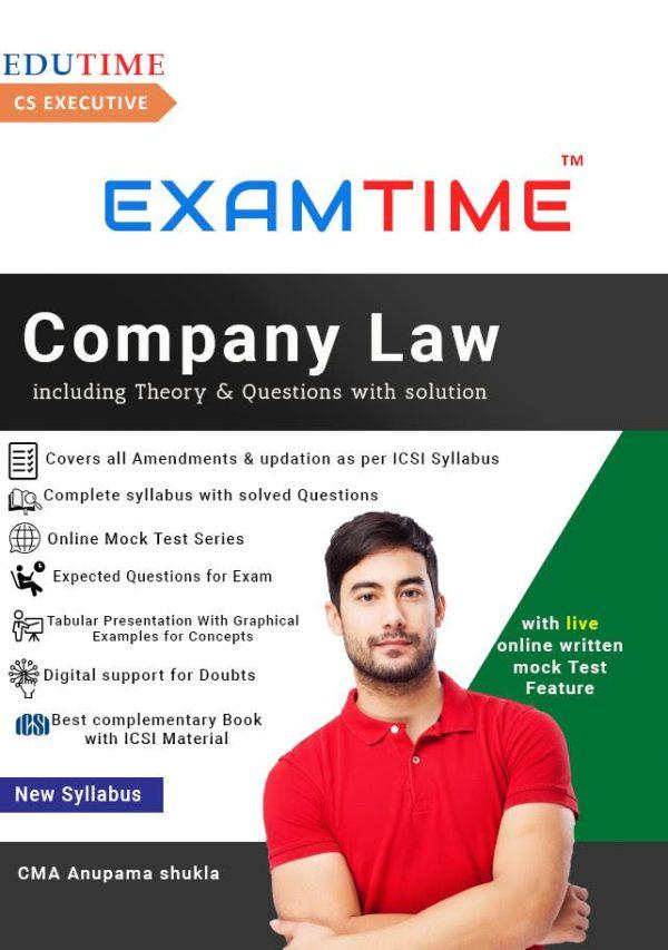 CS Executive Examtime company law by anupama shukla